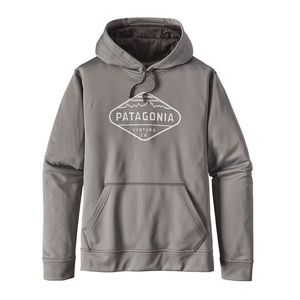 Patagonia Mens Fitz Roy Crest Polycycle Hoody Grey